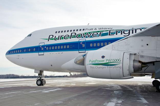Pratt & Whitney's Boeing 747SP flying test bed
